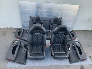 NAPA LEATHER SEAT SEATS W/DOOR PANEL SET BLACK 13-17 AUDI A7 S7 RS7 C7 4.0T