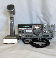 KENWOOD TS-120S HAM RADIO W/ SHURE BASE MICROPHONE W/POWER CABLE