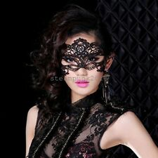 Women Black Lace Butterfly Face Mask Cat Eye Masquerade Halloween Party Costume