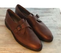 CC COURTENAY 124566 Men's Brown Leather Dress Shoe With Buckle 10.5