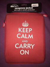 NeoSkin Neoprene Jacket W/ Built-In Screen Protection Fits iPad 2 Keep Calm Logo