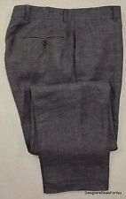 Emile Lafaurie Pant Mens 32 W 32 L Brown Linen Slacks Pants