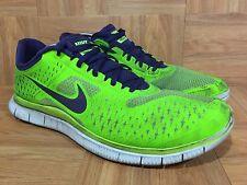RARE🔥 Nike Free 4.0 V2 Electric Green Night Blue Pure Platinum Sz 14 511472-340
