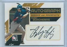 2011 ITG Heroes & Prospects Bobby Borchering Full Body GOLD AUTO RC /10