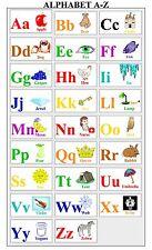 My ABC Alphabet Learn table Fabric Art Cloth Poster 21inch x 13inch  Decor 12