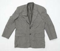 Burton Mens Size S Wool Blend Houndstooth Brown Jacket