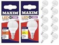 10Pc Screw In Bayonet LED Round Light Bulb Energy Saver Warm Cool White Daylight