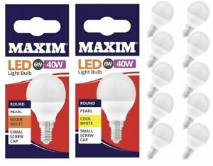 10Pc Screw In Bayonet LED Round Light Bulb Energy Saver Warm Cool White Daylight