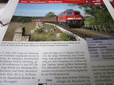 Archiv  Eisenbahnstrecken 550 Zeitz Meuselwitz Altenburg