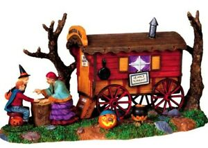New RARE RETIRED Lemax Spookytown, Gypsy Wagon #93720, Psychic Halloween