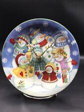 Silly Smiley Snowman Family Christmas Clock !!