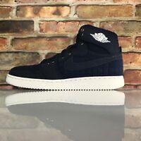 Nike Air Jordan 1 Denim KO High OG Mens Size 9.5 Leather Canvas Obsidian White