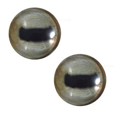 Pair of 30mm Pale Goat Glass Eyes for Jewelry Pendants or Taxidermy Doll Making
