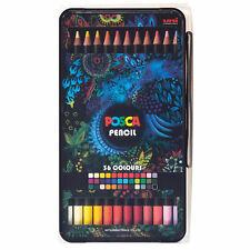Uni Posca Huile Cire Crayon Boîte Ensemble De 36 Couleurs