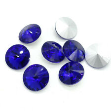 ELEMENTS Rhinestone Crystal glass Rivoli Round Beads 6/8/10/12/14/16/18mm DIY