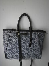 DKNY Town & Country Navy/Black w/Vintage PU Cut Up Tote MSPR $265