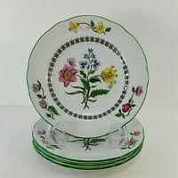 """Spode Summer Palace S3588Y Imperialware Bread Plates 4 pc Set 6.25"""" England"""