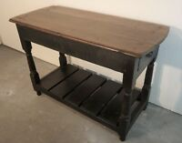 Antique Oak Hall Table / Refurbished Console Table (RR186)