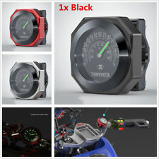 1x Black Color Motorcycle Handlebar Mount Waterproof Luminous Thermometers Gauge