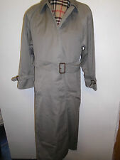 Genuine Vintage Aquascutum Olive Belted Raincoat Coat Mac Size UK 14 Euro 42