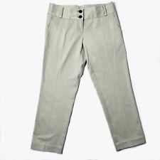 BURBERRY Khaki Chinos Dress Pants Straight Leg Crop Women's 4