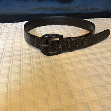 TITI DELL'ACQUA- Milan Brown Aligator Belt sz M, Made in Italy
