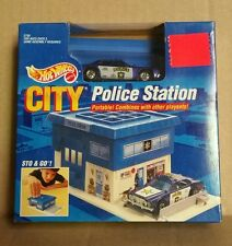 VERY RARE Hot Wheels Police Station Portable Playset W/ Police Cruiser 1990 NEW