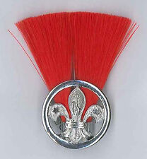 SCOUTS OF ZIMBABWE - ASSISTANT SCOUT LEADER (RED COLOUR) Metal Plume / Hat Patch