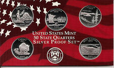 2005 SILVER 50 State Quarters -  Dcam Proofs - Original Gov't Packaging & COA