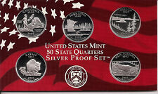 2005 SILVER 50 State Quarters - Dcam Proofs With Box & Authenticity Certificate
