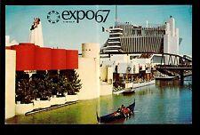 1967 Gondola ride Ile Notre-Dame Expo67 Montreal Canada exposition postcard
