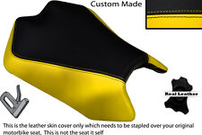 YELLOW & BLACK CUSTOM FITS APRILIA TUONO V4 V4R APRC 1000 11-13 FRONT SEAT COVER