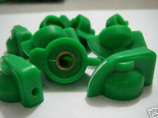 """Lot-10 Green Chickenhead Knob for Tube Amplifier Guitar Pedal Effects 1/4"""" shaft"""
