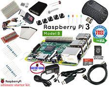 Raspberry Pi 3 & Ultimate Starter Kit - Wifi, HDMI, Breadboard, SD Card Class 10