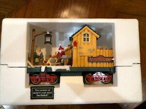 New Bright HOLIDAY EXPRESS CHRISTMAS TRAIN Animated Log Mill Car.