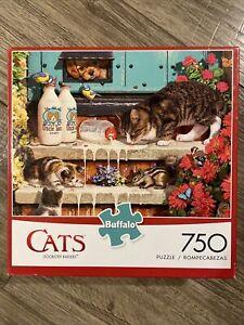 Cats of Charles Wysocki DOORSTEP RAIDERS 750 Piece Puzzle w/ Poster