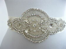 Rhinestone Applique Wedding Sash Ivory Bridal Sash Belt Dress Accessories 3