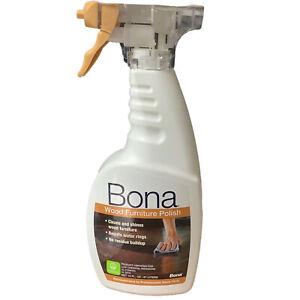 Bona Wood Furniture Polish Trigger Spray Cleans Shines Resists Water Rings 16 Oz