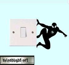2x 10cm Spiderman light switch vinyl sticker Decal. Marvel superhero wall vinyl