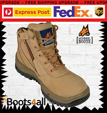 Mongrel Mens Work Boots  Sports Shoe Side Zip Steel Toe Lace 261050 BEST SELLER
