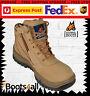 New Mongrel Mens Work Boots Runners Sports Shoe Side Zip Steel Toe Lace 261050
