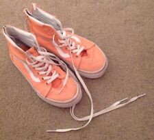 Girls Vans Hi Top Zip Boots Trainers UK Kids Size 12.5 EU 29.5 Salmon Pink VGC
