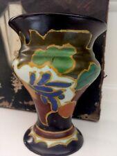 Vintage Deco Arnhem Sweet Floral Gouda Vase 1928  Amsterdam