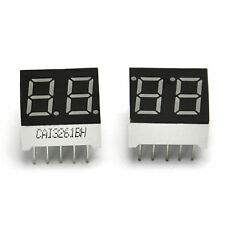 "2 PCS LED Display Common Anode 0.36"" 2 Digital 15x14mm Red 3261 For Arduino"