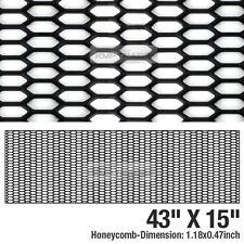 5black Honeycomb Hexagon Mesh Abs Grille Fog Custom Kit 43x15 For All Vehicle Fits 2004 Honda Civic