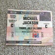 Michael Jackson Unused ticket Wembley Stadium 14/07/88 #3967  Bad tour