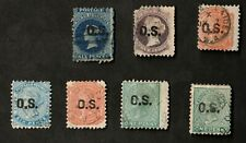 South Australia Official Stamps 1874-1890 Mixed Lot of 7 Stamps