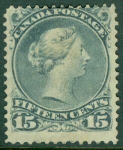 EDW1949SELL : CANADA 1868 Sc #30b Blue Grey. Mint No Gum. Fresh & Sound Cat $135
