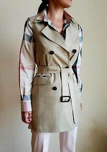 Burberry Women's Beige Autumn Trench Coat / Vest Size M