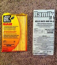 Just One Bite II Rodent bar&Ramik bar 1 lb ea rodent rat mouse squirrel poison